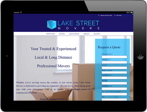 Web Design: Lake Street Movers