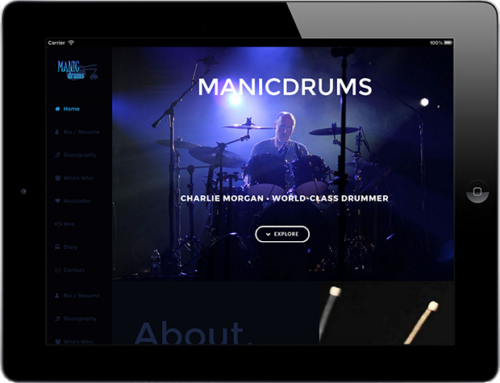 Web Design: Manicdrums Productions