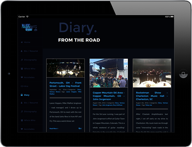 Web Design for Business Manicdrums Productions 5