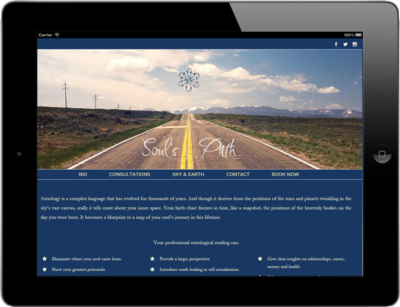 Business Web Design Soul's Path Astro 1